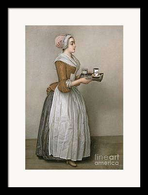 Tea Drinking Framed Prints