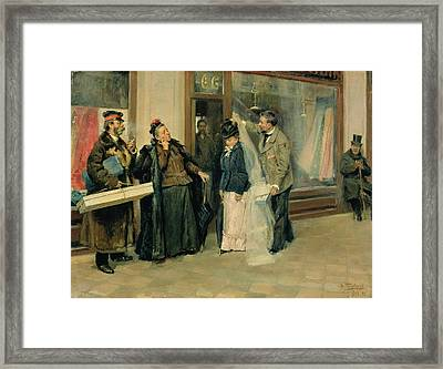 The Choice Of Wedding Presents, 1897-98 Oil On Canvas Framed Print by Vladimir Egorovic Makovsky
