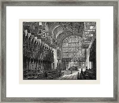 The Choir, St. Georges Chapel, Windsor Framed Print by English School