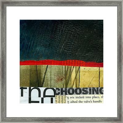 The Choosing Framed Print by Jane Davies