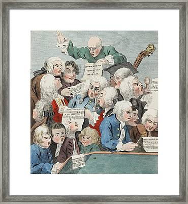 The Chorus Or Rehearsal Of The Oratorio Framed Print