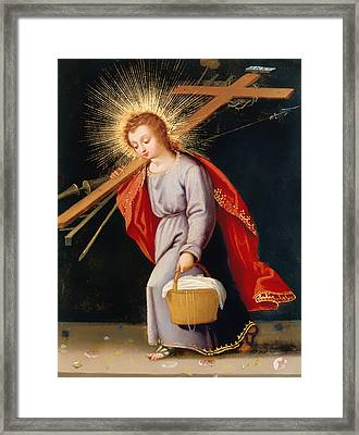 The Christ Child Bearing Instruments Of Passion Framed Print