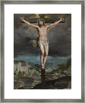 The Christ Expiring On The Cross Framed Print