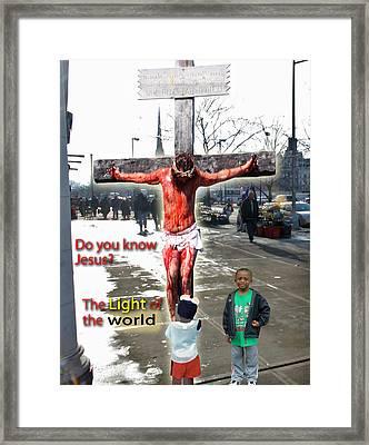 The Christ In Harlem Framed Print