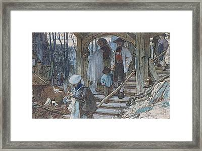 The Christening Gate In Lausanne, C.1861 Framed Print by Matthijs Maris