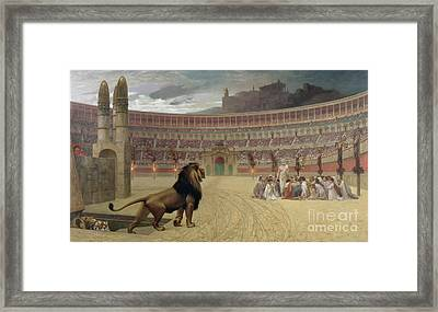 The Christian Martyrs Last Prayer Framed Print by Jean Leon Gerome