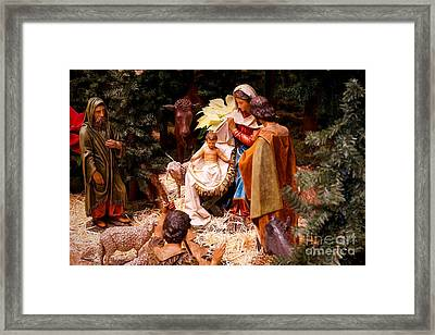 The Christmas Creche At Holy Name Cathedral - Chicago Framed Print