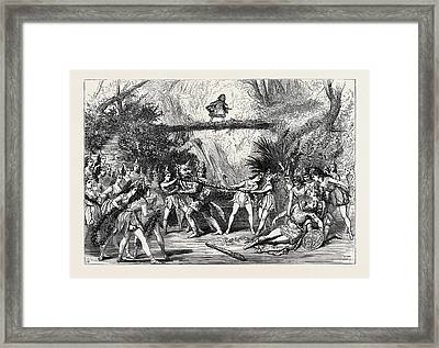The Christmas Pantomimes Scene From Red Riding Hood Framed Print
