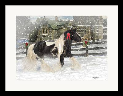 Traditional Gypsy Horse Framed Prints