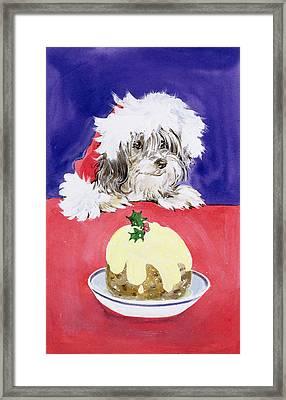 The Christmas Pudding Framed Print