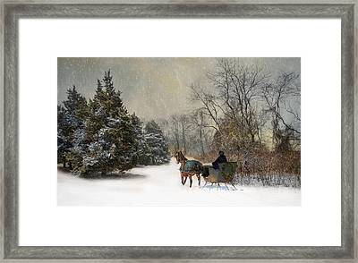 The Christmas Sleigh Framed Print by Robin-Lee Vieira