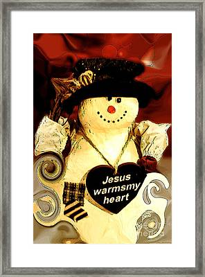 The Christmas Snowman Framed Print