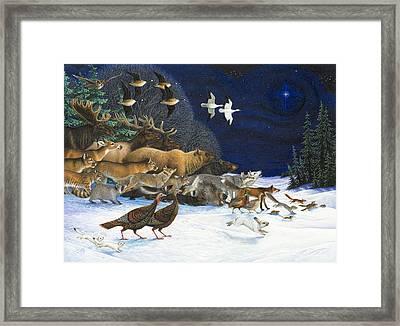 The Christmas Star Framed Print