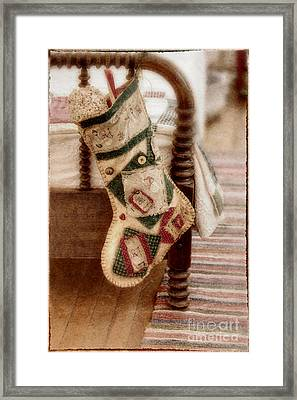 The Christmas Stocking Framed Print by Margie Hurwich