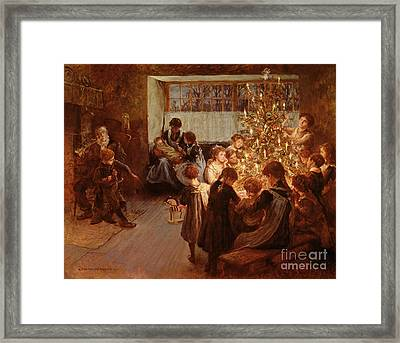 The Christmas Tree Framed Print by Albert Chevallier Tayler