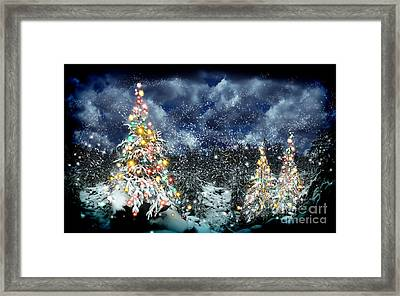 The Christmas Tree Framed Print by Boon Mee