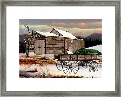 The Christmas Tree Framed Print by Ron and Ronda Chambers