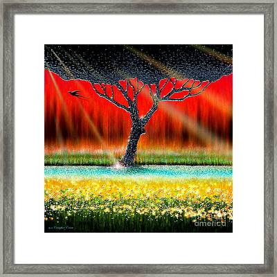 The Chrome Tree Framed Print by Cristophers Dream Artistry