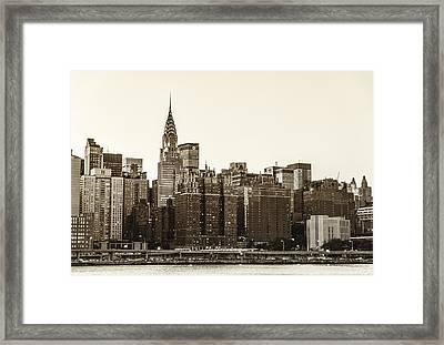 The Chrysler Building And New York City Skyline Framed Print by Vivienne Gucwa