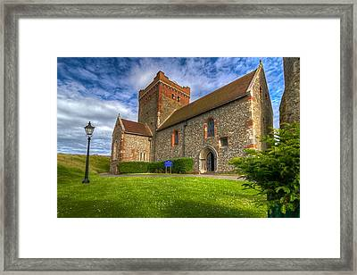 Framed Print featuring the photograph The Church At Dover Castle by Tim Stanley
