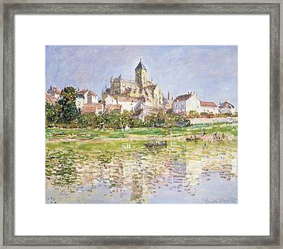 The Church At Vetheuil, 1880 Framed Print by Claude Monet