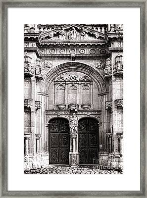 The Church At Vetheuil Framed Print by Olivier Le Queinec