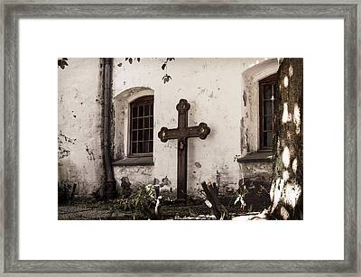The Church Courtyard Framed Print
