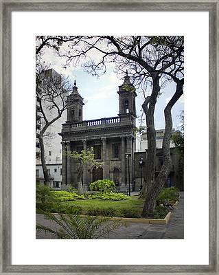 The Church Green Framed Print by Lynn Palmer