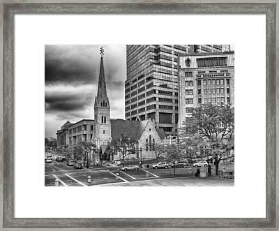 The Church Framed Print by Howard Salmon