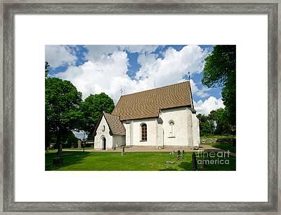 The Church In Vasteraker Framed Print