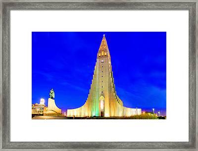 The Church Of Hallgrimur Reykjavik Framed Print