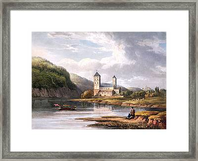 The Church Of Johannes At The Influx Framed Print by Christian Georg II Schutz or Schuz