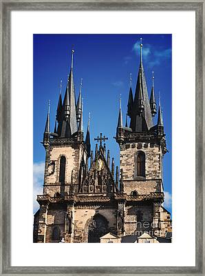 The Church Of Mother Of God In Front Of Tyn Framed Print by Jelena Jovanovic
