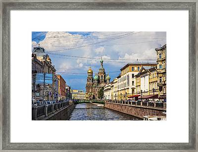 The Church Of Our Savior On Spilled Blood - St. Petersburg - Russia Framed Print