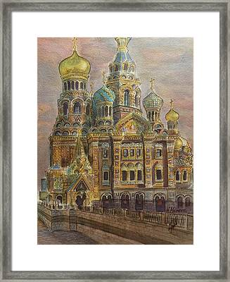The Church Of Our Savior On The Spilled Blood  St Petersburg Framed Print