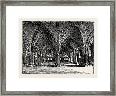 The Church Of St. Faith The Crypt Of Old St Framed Print by English School