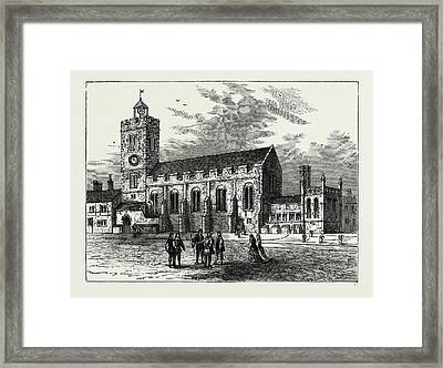 The Church Of St. Michael Ad Bladum Framed Print by Litz Collection