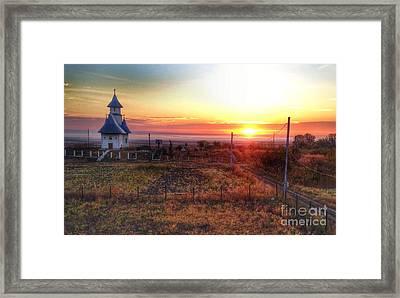 The Church On The Hill Framed Print by Gabriela Insuratelu