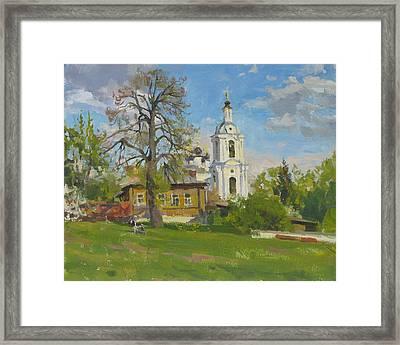The Church Spasa Za Verhom Framed Print by Victoria Kharchenko