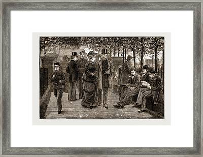 The Churchyard, St Framed Print by Litz Collection