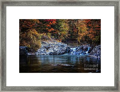 The Chutes Thetford Vermont Framed Print by Edward Fielding