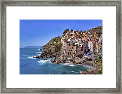 The Cinque Terre - Riomaggiore Afternoon Framed Print