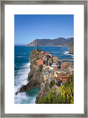The Cinque Terre  - Vernazza In The Early Afternoon Framed Print