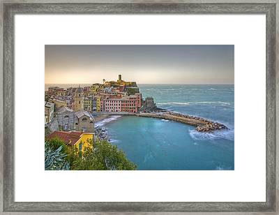 The Cinque Terre - Vernazza Morning II Framed Print
