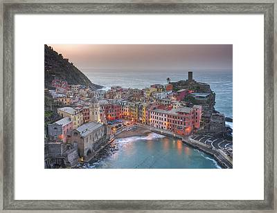 The Cinque Terre - Vernazza Morning IIi Framed Print