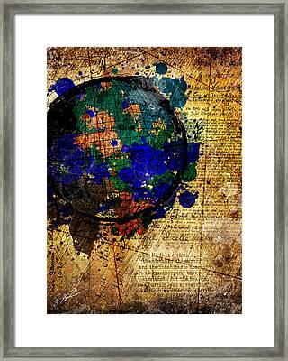 The Circle Of The Earth Framed Print by Gary Bodnar