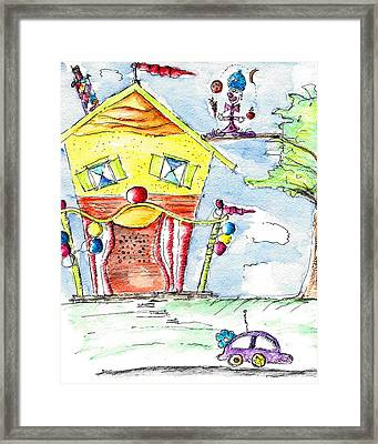 The Circus Clown Framed Print by Jason Nicholas