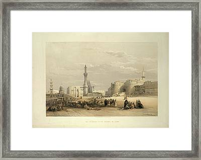 The Citadel Of Cairo Framed Print by British Library
