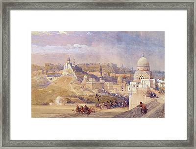 The Citadel Of Cairo, Residence Of Mehmet Ali, 1842-49  Framed Print by David Roberts