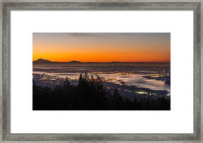 The City Awakens Framed Print